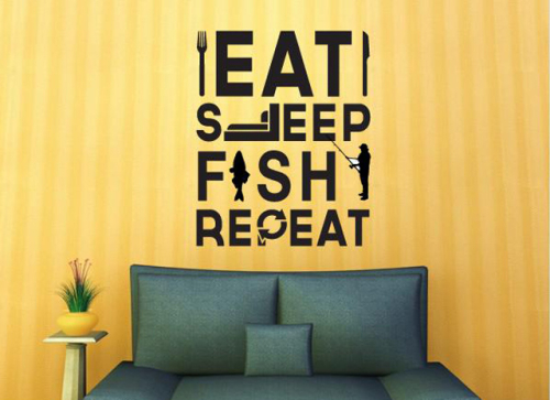 Eat Sleep Fish Repeat image