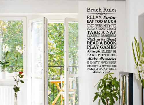 Rules at the Beach image