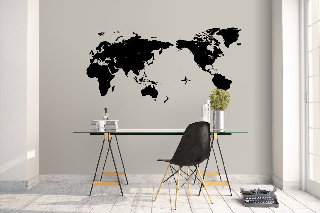 World Map decal